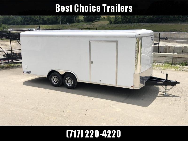 2019 Sure Trac 8.5x20' STRCH Commercial Round Top Enclosed Car Hauler Trailer 9900# * WHITE