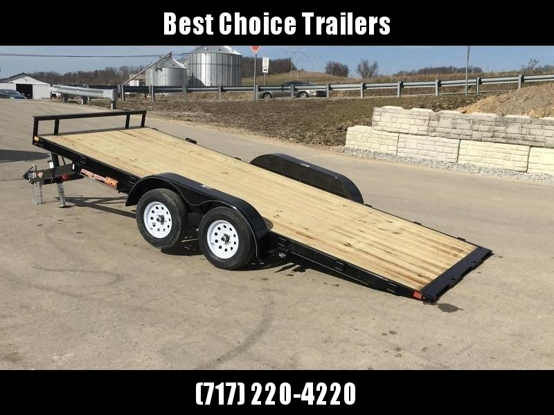 2019 H&H 7x20' EX Power Tilt Car Hauler 9990# GVW * POWER UNIT * DUAL TOOLBOXES