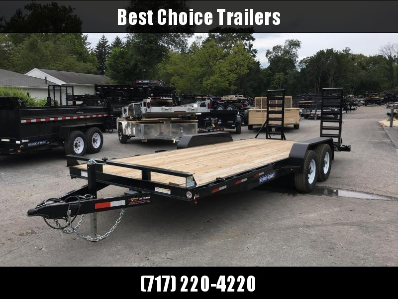 2018 Sure-Trac Implement 7'x16' Equipment Trailer 9900# GVW - ST8116IT-B-100