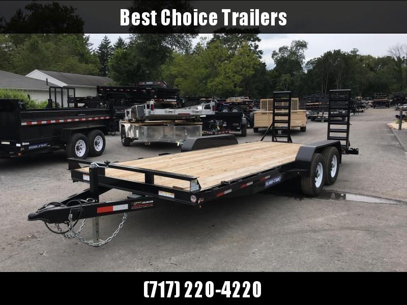 2018 Sure-Trac Implement 7'x16' Equipment Trailer 9900# GVW - ST8116IT-B-100 * CLEARANCE - FREE ALUMINUM WHEELS in Ashburn, VA