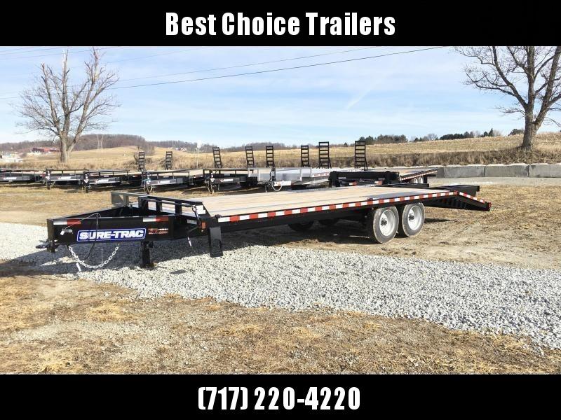 "2019 Sure-Trac 102""x20+5' LowPro Beavertail Deckover Trailer 17600# GVW * 8000# AXLES * PIERCED FRAME * FULL WIDTH RAMPS * 12"" I-BEAM"