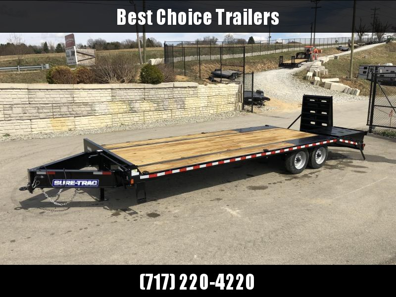 "2019 Sure-Trac 102""x20+5' LowPro Beavertail Deckover Trailer 17600# GVW * 8000# AXLES * PIERCED FRAME * FULL WIDTH RAMPS * 12"" I-BEAM in Ashburn, VA"