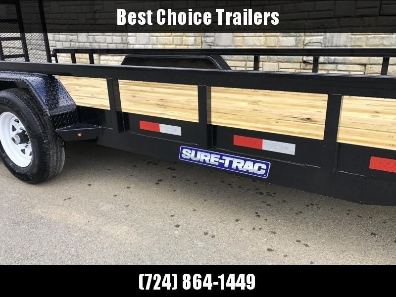 2019 Sure-Trac 7x18 Tube Top Utility Landscape Trailer 9900# GVW * PROFESSIONAL LANDSCAPE SERIES * HD REINFORCED GATE * 5