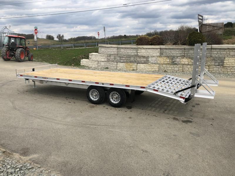 2019 H&H 102x20+4 Aluminum Deckover Equipment Trailer 14000# * ALUMINUM STAND UP RAMPS