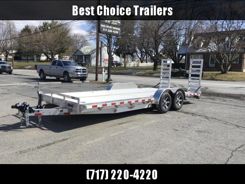 """2018 H&H 102x20' HDA Aluminum Equipment Trailer 9990# GVW * 102"""" DECK OUTRIGGERS * EXTRUDED ALUMINUM FLOOR * TORSION * SWIVEL D-RINGS * EXTRA STAKE POCKETS * CLEARANCE"""