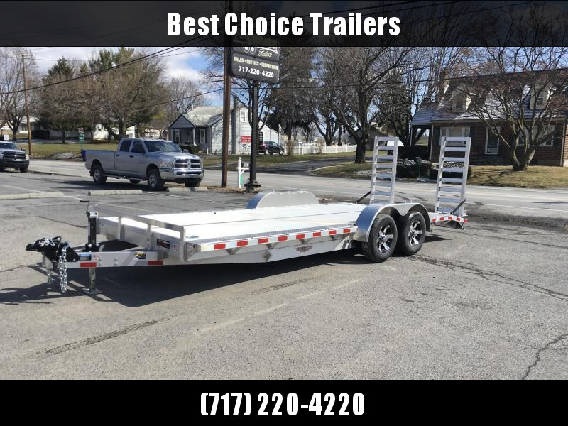 """2018 H&H HAD 102""""x20' ALUMINUM Equipment Trailer 9990# GVW * 102"""" DECK OUTRIGGERS * EXTRUDED ALUMINUM FLOOR * TORSION * SWIVEL D-RINGS * EXTRA STAKE POCKETS"""