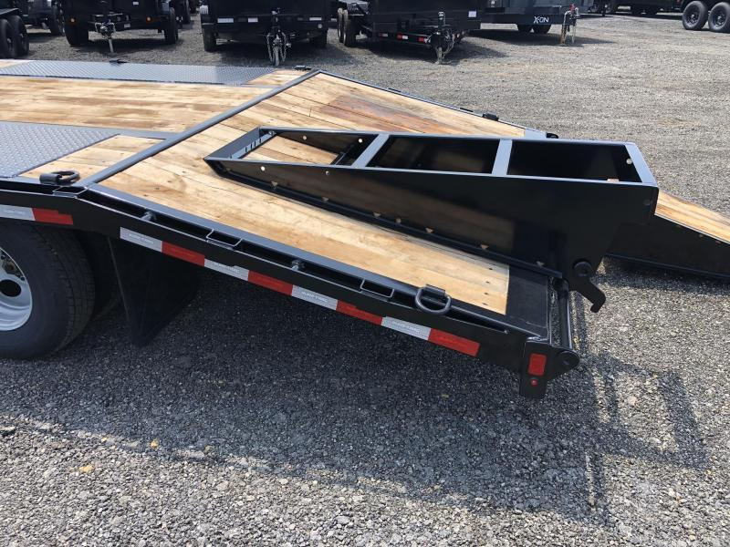 2019 Sure-Trac 102x20+5 22K Pintle Beavertail Deckover Trailer Pierced Frame OAK DECK & RAMPS PAVER TRAILER * HUTCH SUSPENSION * 12 D-RINGS * TOOLBOX * OAK RAMPS/TAIL/DECK * 2ND JACK