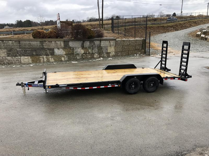 2019 Load Trail 7x20' Equipment Trailer 9990# GVW * CH8320052 * STAND UP RAMPS * D-RINGS * DEXTER'S * 2-3-2 * POWDER PRIMER