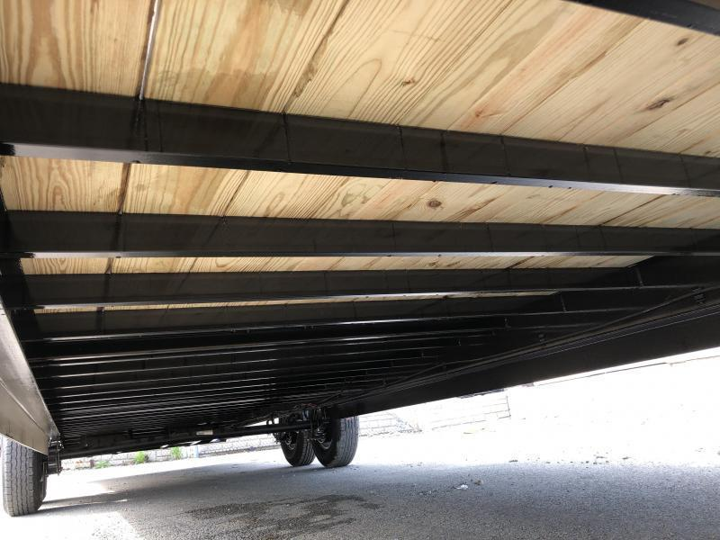 """USED 2019 Ironbull 102x34' Gooseneck Car Hauler Equipment Trailer 14000# GVW * 102"""" Deck * Drive Over Fenders * Extended 4' dovetail * Winch plate"""