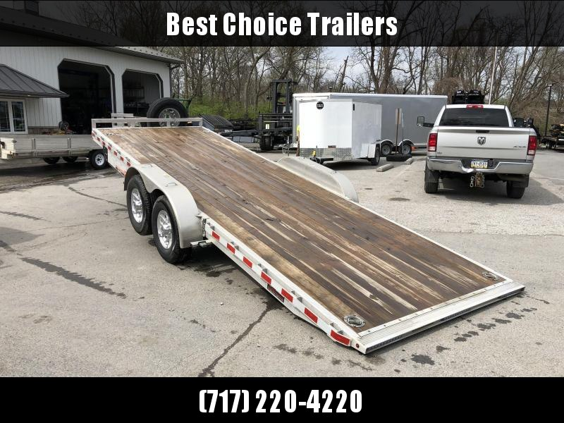2018 H&H 7x22' Aluminum Power Tilt Equipment Trailer 14000# GVW * TORSION * 4 SWIVEL D-RINGS * 4 EXTRA STAKE POCKETS * ALUMINUM SPARE * SLIPPER SPRINGS * ADJUSTABLE COUPLER
