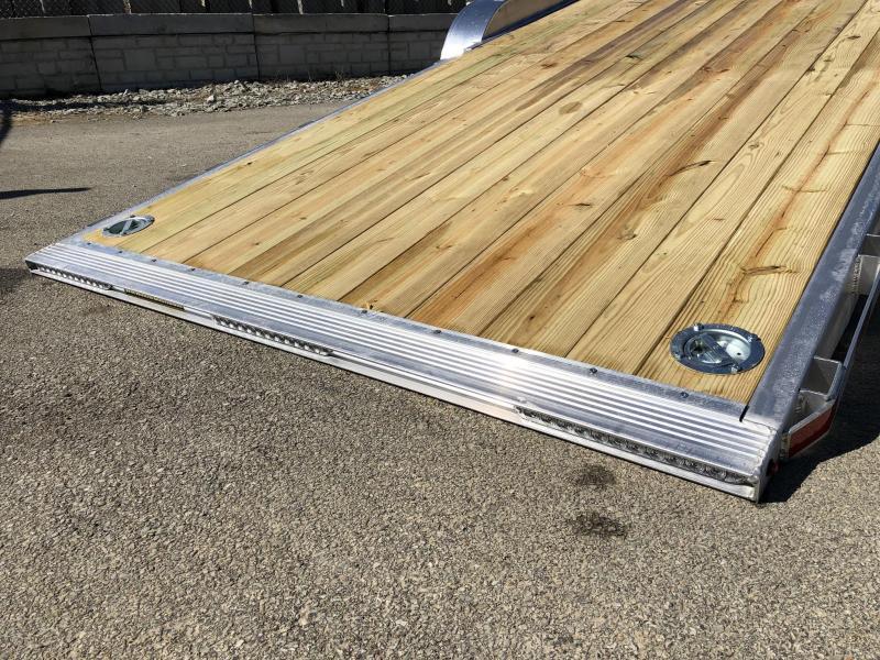 2018 H&H 7x22' Aluminum Power Tilt Equipment Trailer 14000# GVW * TORSION * 4 SWIVEL D-RINGS * 4 EXTRA STAKE POCKETS * ALUMINUM SPARE * SLIPPER SPRINGS * ADJUSTABLE COUPLER