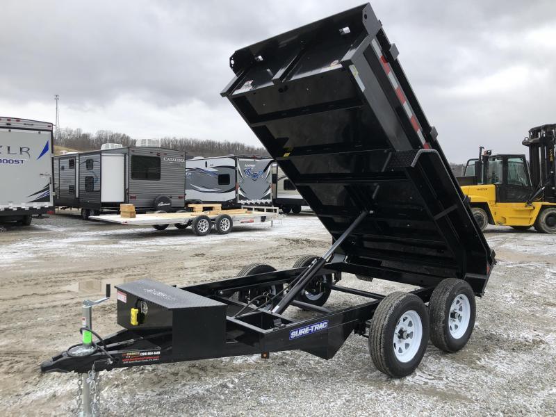 2019 Sure-Trac 5x10 Low Profile Homeowner Dump Trailer 7000# GVW * BARN DOORS