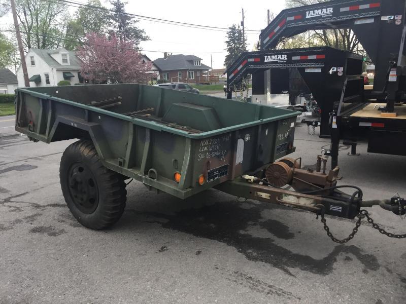 USED 1968 Military Utility Trailer 5750# GVW Yard Cart Wood Hauler