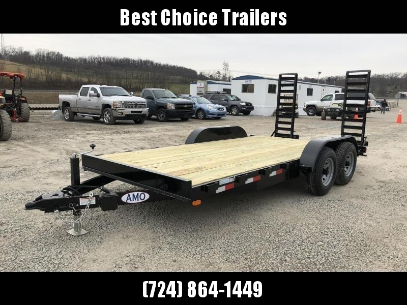 2018 AMO 7x16' Equipment Trailer 9990# GVW * CLEARANCE PRICED