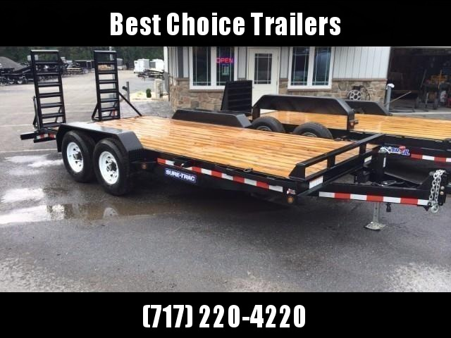 2018 Sure-Trac Implement 7'x18' Equipment Trailer 14000# GVW