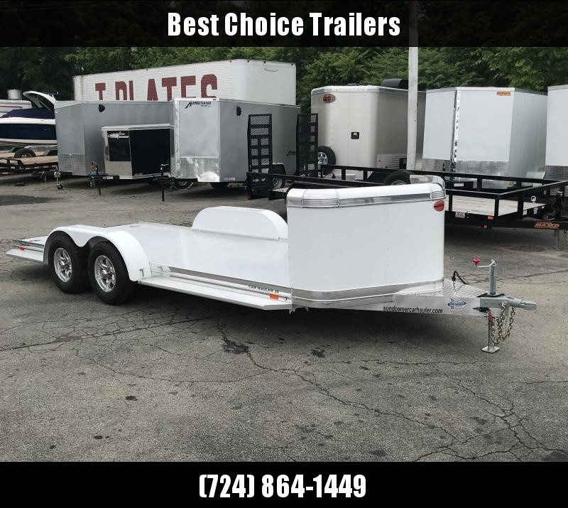 2019 Sundowner Trailers 7x19' 8050# GVW CH19BP * DELUXE ALUMINUM * TORSION * EXTRUDED * POLISHED * PAINTED FENDERS * 3' STONEGUARD * UPGRADED RUBBER * RUNNING BOARDS * CLEARANCE