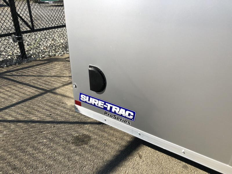 2019 Sure-Trac 8.5x24 Round Top Car Hauler 9900# GVW SILVER