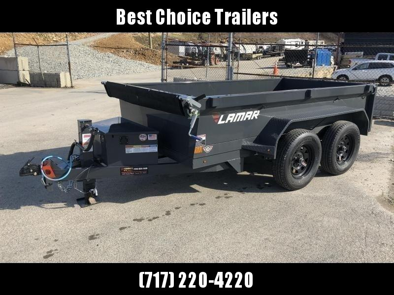 2019 Lamar 5x10' DS60 Dump Trailer 7000# GVW - DELUXE * 12K JACK * RAMPS * TARP * SPARE & MOUNT
