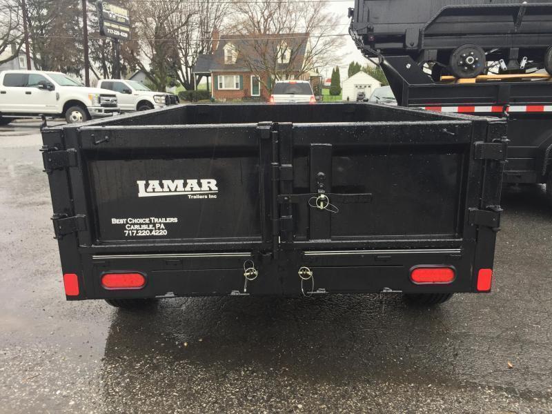 2019 Lamar 5x8' DS60 Dump Trailer 7000# GVW - SINGLE AXLE * TARP * RAMPS * CHARCOAL * SPARE MOUNT