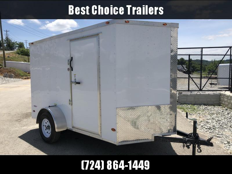 2018 Freedom 6x10' Enclosed Cargo Trailer 2990# GVW * RAMP * WHITE