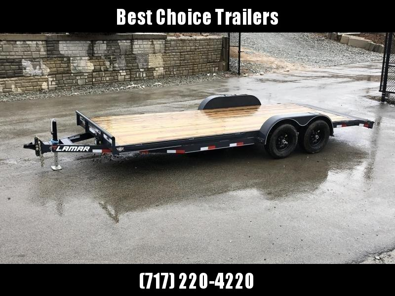 2019 Lamar 7X20' CC10 Car Trailer 9990# GVW RUBRAIL * REMOVABLE FENDERS  * CHARCOAL POWDERCOATING * 7K DROP LEG JACK in Ashburn, VA