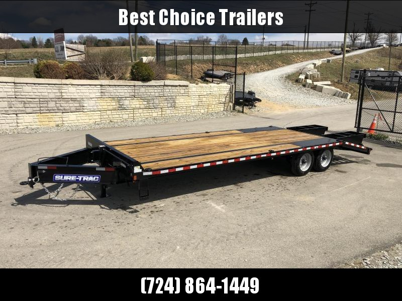 "2019 Sure-Trac 102""x20+5' LowPro Deckover Trailer 17600# GVW * 8000# AXLES * PIERCED FRAME"