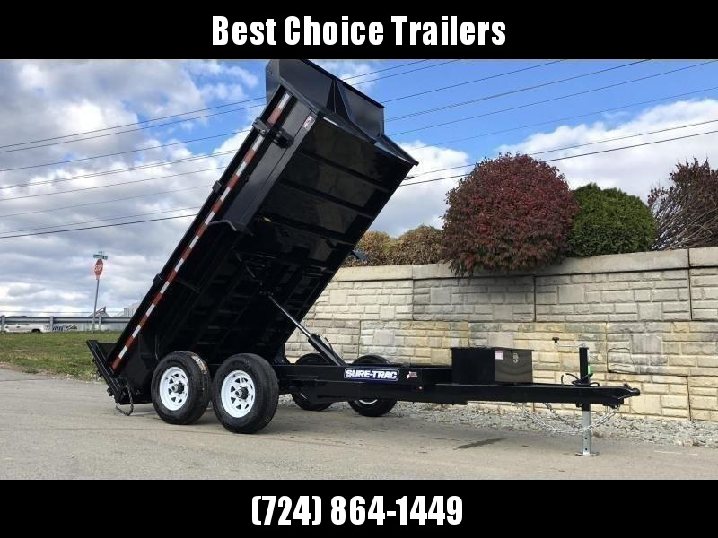 2019 Sure-Trac 6x12' Dump Trailer 9900# GVW * DROP LEG JACK UNDERMOUNT RAMPS COMBO GATE