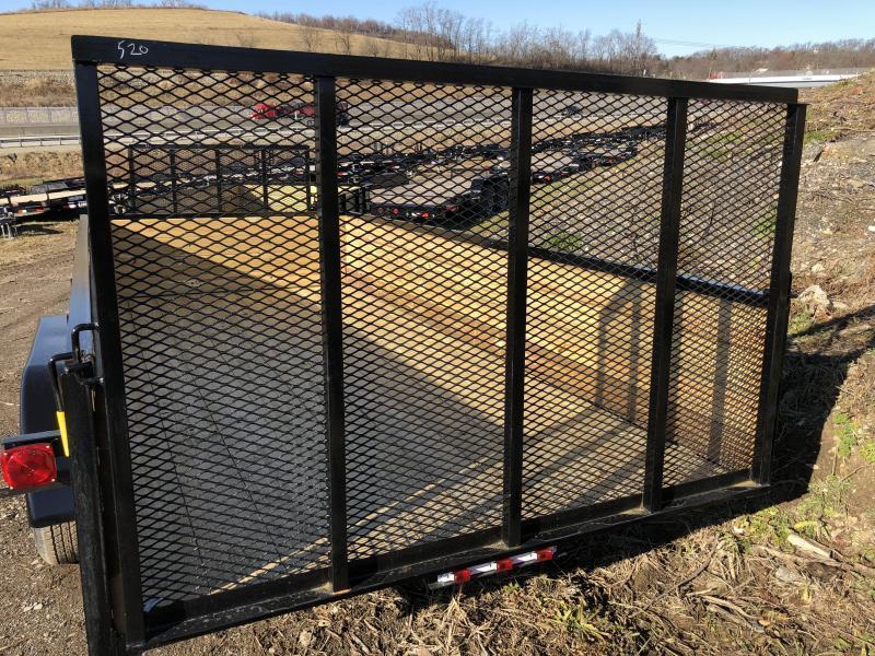 "2018 AMO 76""x14' Wood High Side Angle Iron Utility Landscape Trailer 7000# GVW"