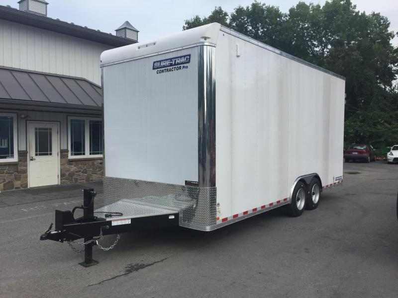 2018 Sure-Trac 8.5x20' Enclosed Contractor Pro 16000# GVW * GEOPROBE TRAILER * DESIGNED FOR HAULING SKIDSTEER OR SIMILAR INSIDE * 8K AXLE UPGRADE