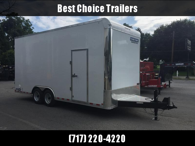 2018 Sure-Trac 8.5x20' Enclosed Contractor Pro 16000# GVW * GEOPROBE TRAILER * DESIGNED FOR HAULING SKIDSTEER OR SIMILAR INSIDE * 8K AXLE UPGRADE in PA