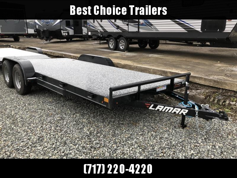 2018 Lamar 7x18' Steel Deck Car Trailer 7000# GVW * 11GA STEEL DECK * CHARCOAL * 3' DOVETAIL