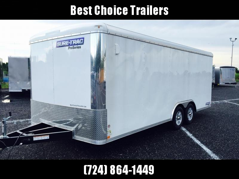 2019 Sure-Trac 8.5x24 Round Top Car Hauler 9900# GVW * WHITE