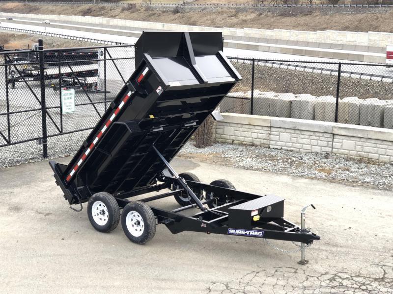 2019 Sure-Trac 6x10' LowPro Dump Trailer 7000# GVW * RAMPS * COMBO GATE