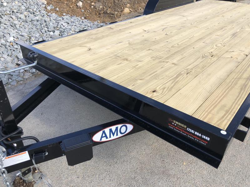 2018 AMO 7x18' Equipment Trailer 9990# GVW * CLEARANCE - FREE ALUMINUM WHEELS