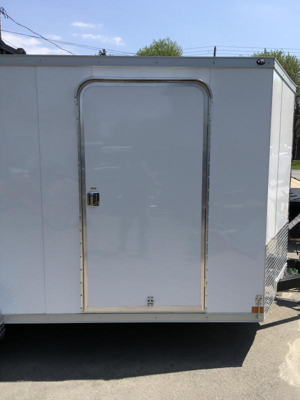 2018 Wells Cargo 7x16' VG500 Enclosed Cargo Trailer 7000# GVW * WHITE * FINISHED WALLS