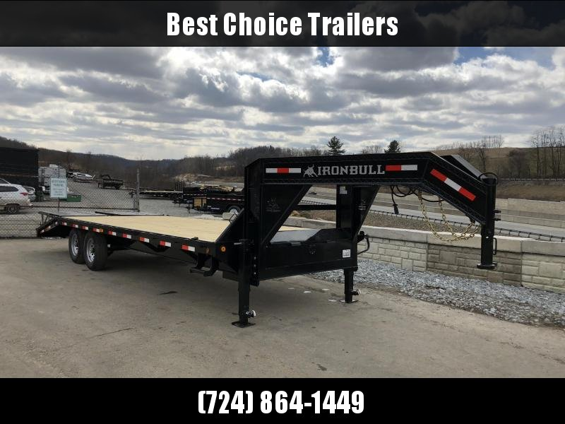 2018 Ironbull 102x20+5' Gooseneck Beavertail Deckover Flatbed 14000# * FULL WIDTH RAMPAGE RAMPS * FREE ALUMINUM WHEELS