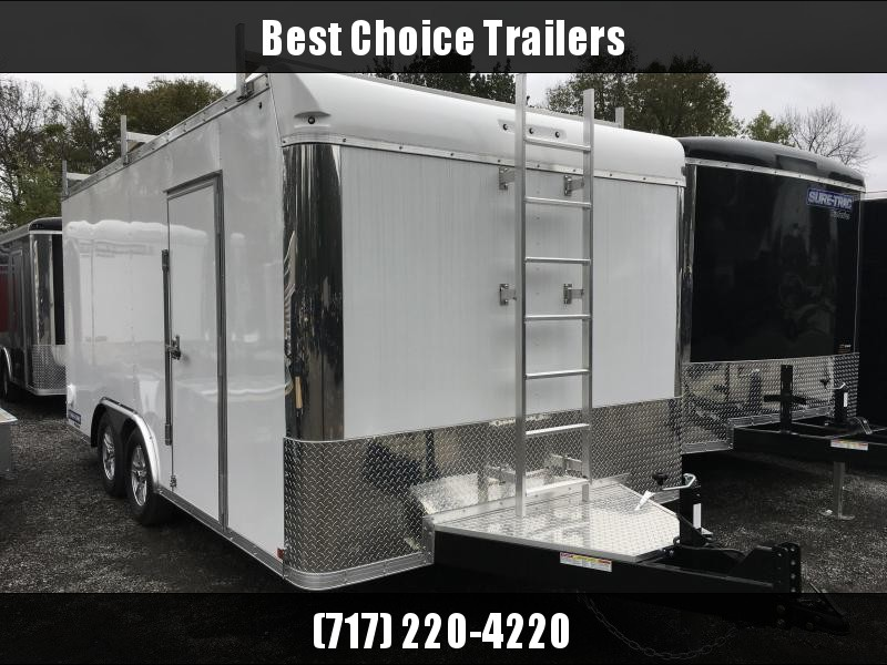 2018 Sure-Trac 8.5x16' Contractor Pro Enclosed Trailer 7000# GVW