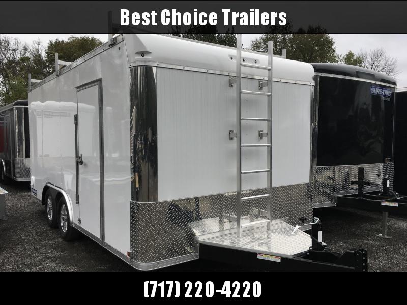 2018 Sure-Trac 8.5x16' Contractor Pro Enclosed Trailer 7000# GVW