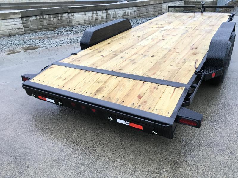 2018 Iron Bull 7x18' Wood Deck Car Trailer 9990# GVW * BLACK(ED) OUT FRIDAY SPECIAL - FREE ALUMINUM WHEELS
