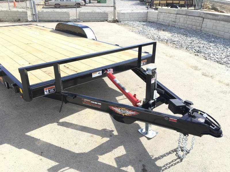 2019 Sure Trac 7x18' Manual Tilt Car Hauler 9990# GVW