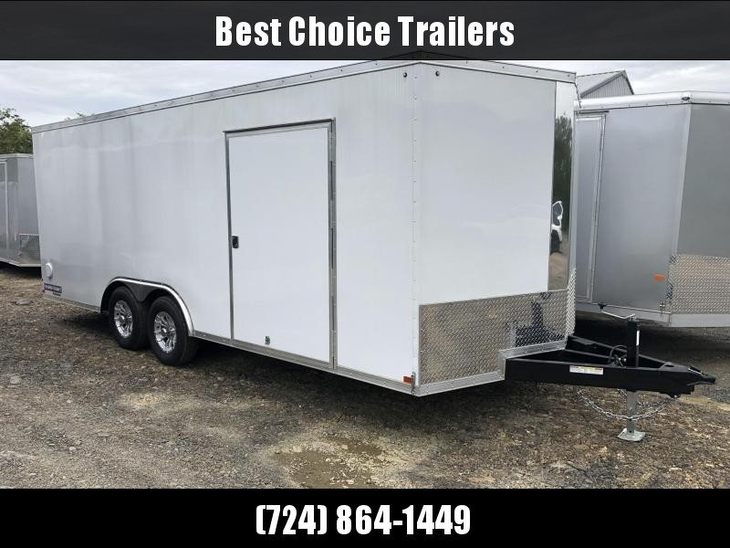 2019 Sure-Trac 8.5x20' Enclosed Car Trailer 9900# GVW * WHITE * 7K DROP LEG JACK in Ashburn, VA