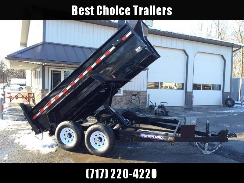 2019 Sure-Trac 7x12' HD LowPro Dump Trailer 12000# GVW * SCISSOR HOIST *ST8212HLOD-B-120 in Ashburn, VA