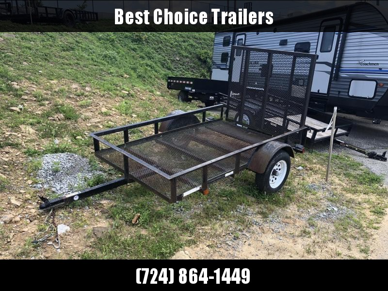 USED 2008 Carry-On 5x8' Angle Iron Utility Landscape Trailer 2000# GVW