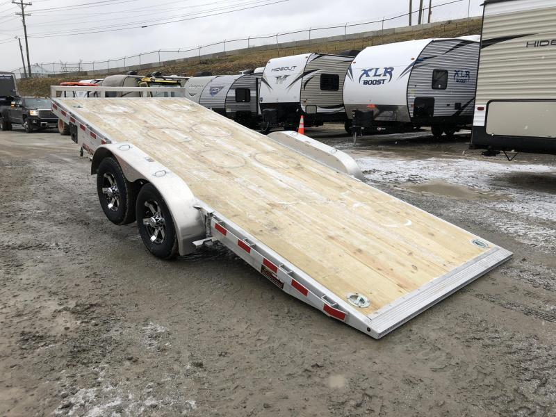 2018 H&H 7x20' Manual Tilt Aluminum Car Hauler 9990# GVW * SPARE MOUNT * CLEARANCE - FREE ALUMINUM SPARE