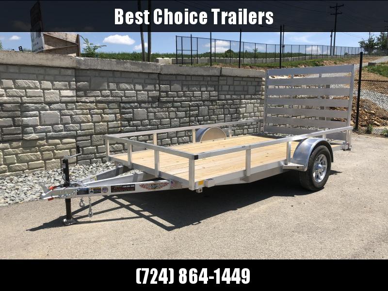 "2018 H&H 76""x12' Aluminum Utility Trailer 2990# GVW"