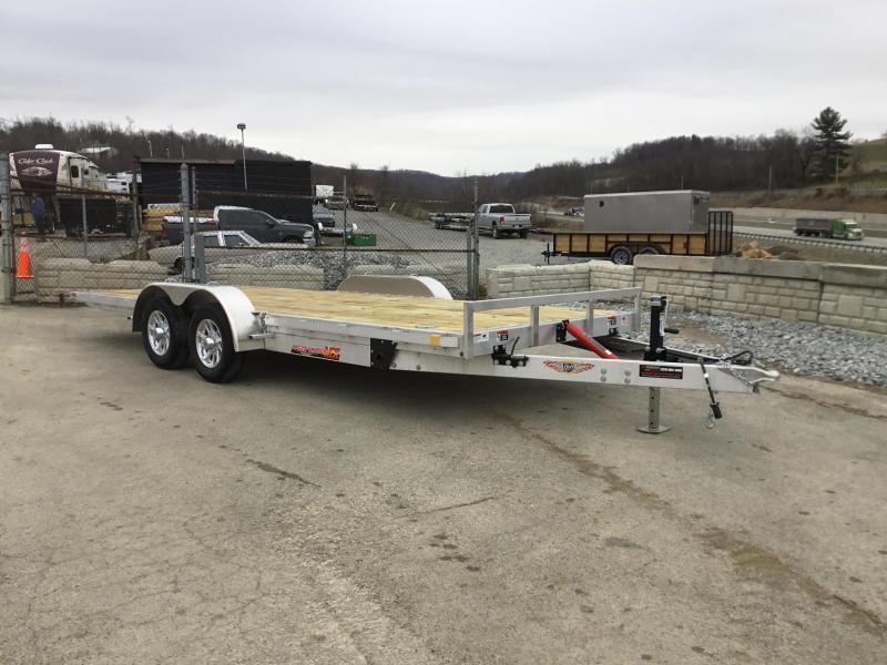 2018 H&H 7x20' Aluminum Manual Tilt Car Trailer 7000# GVW