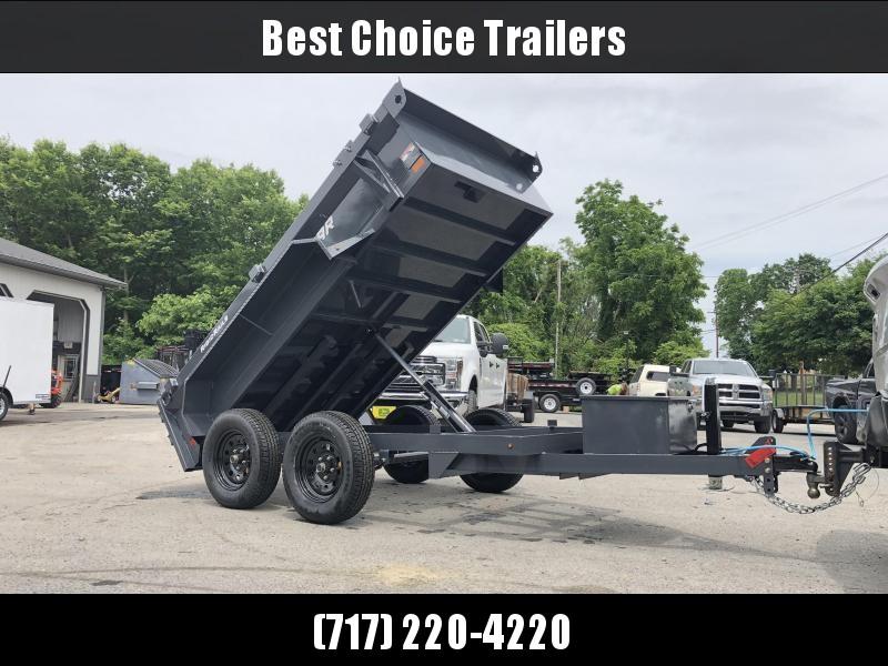 2019 Lamar 5x10' Tandem Axle DS60 Dump Trailer 7000# GVW * SPARE MOUNT * RAMPS * CHARCOAL W/ BLACK WHEELS * RIGID RAIL * ADJUSTABLE COUPLER * 7K JACK * 110V CHARGER in Ashburn, VA