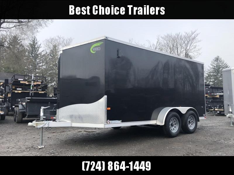2019 Neo 7x16 NAVF Aluminum Enclosed Cargo Trailer * RAMP DOOR * BLACK * ALUMINUM WHEELS
