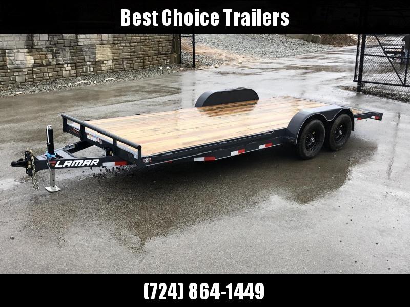2019 Lamar 7x18' CC10 Car Trailer 9990# GVW RUBRAIL * REMOVABLE FENDERS  * CHARCOAL POWDERCOATING * 7K DROP LEG JACK in Ashburn, VA