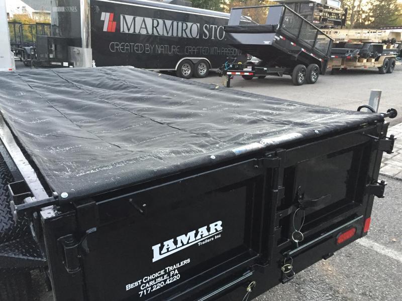 2019 Lamar 5x10' DS60 Dump Trailer 7000# GVW - SINGLE AXLE * RAMPS * SPARE MOUNT * CHARCOAL